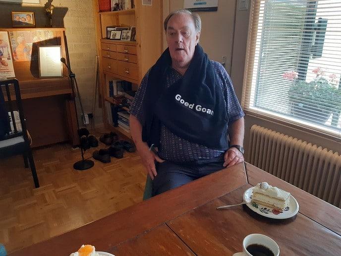 Verrassingsbezoek aan Henk Borgmeijer. - Foto: Ingezonden foto