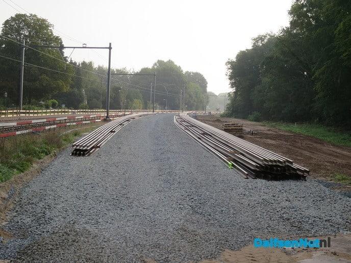 Spoorzone Herfte ook op zondag ging het werk door - Foto: Wim