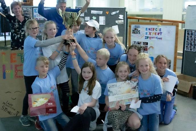 Dalfsense leerlingen tegen energieverspilling - Foto: eigen geleverde foto