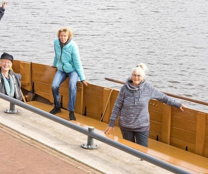 Uitsluitend nog dames op de Dalfser Vechtzomp… - Foto: Geert Bistervels