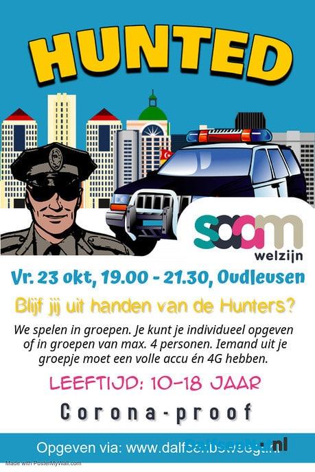 SAAM Welzijn organiseert Hunted - Foto: Ingezonden foto
