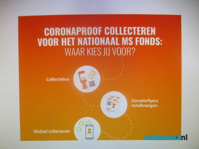 Coronaproof collecteren voor MS - Foto: Ingezonden foto
