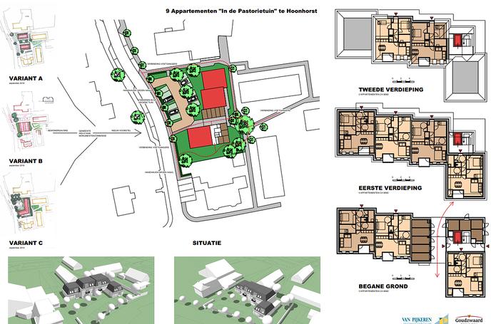 Woningbouwplannen pastorietuin Hoonhorst - Foto: Gemeente Dalfsen