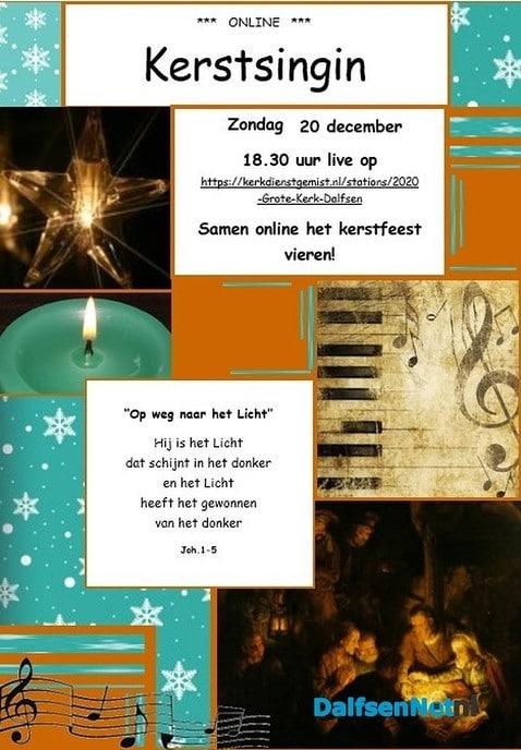 Online Kerst Singin vanuit Grote Kerk Dalfsen - Foto: Ingezonden foto