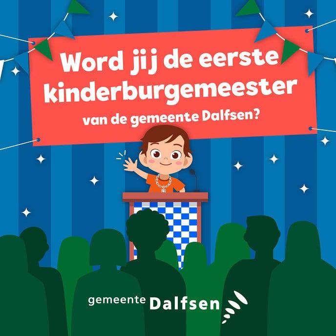 Kinderburgemeester gemeente Dalfsen - Foto: Gemeente Dalfsen