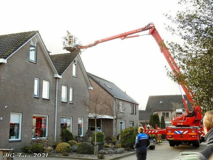 Schoorsteenbrand Nieuwleusen.