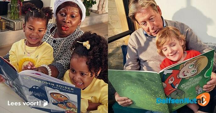 Bibliotheek Dalfsen roept grootouders op hun kleinkinderen voor te lezen - Foto: Ingezonden foto
