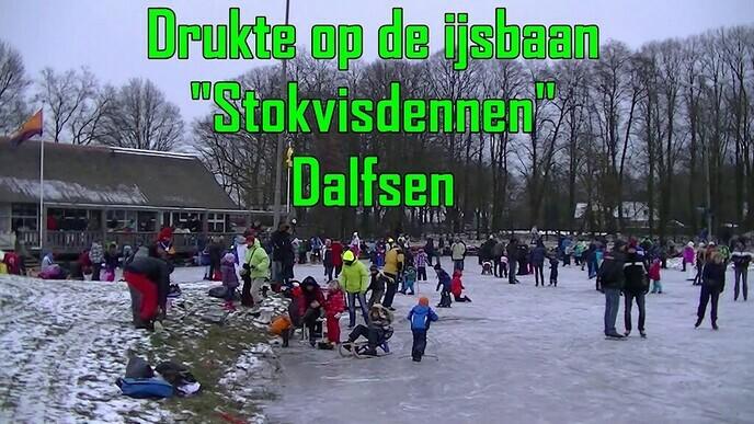 Drukte op de ijsbaan in 2013