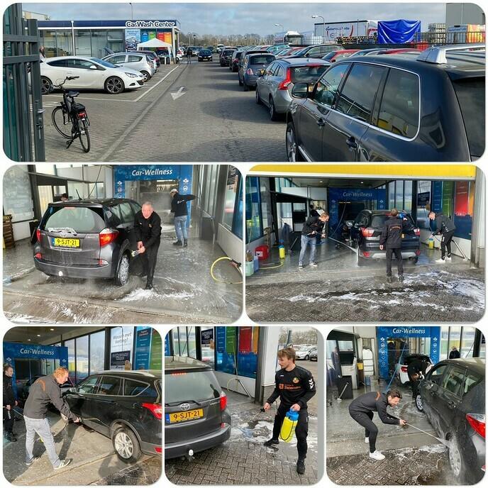 S.V. Nieuwleusen auto´s wassen - Foto: Ingezonden foto