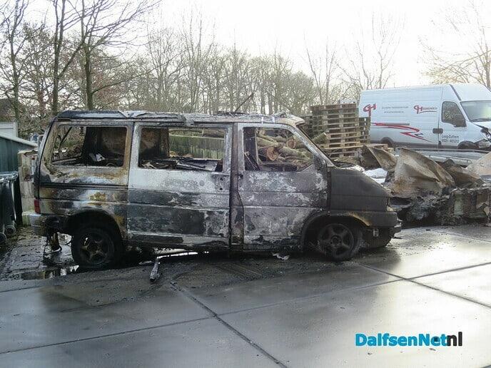 Grote brand terrein van het bedrijf Braakman - Foto: Wim