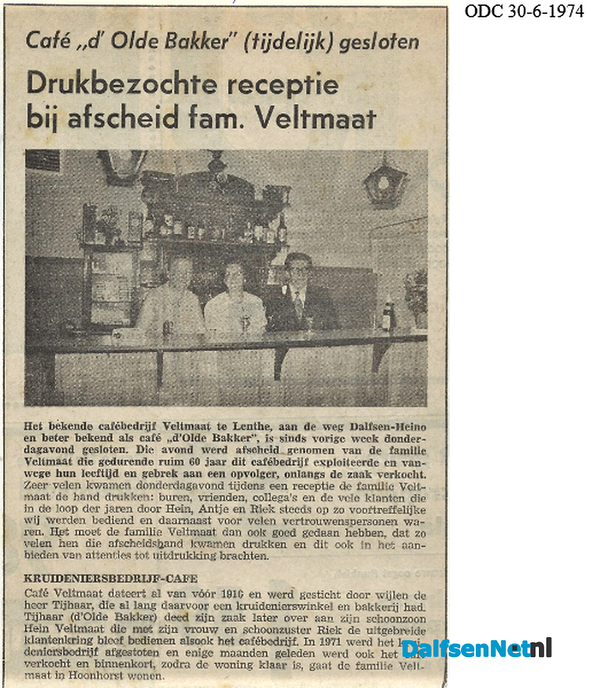 De Olde Bakker te Lenthe, van Hein Veltmaat - Foto: Wim