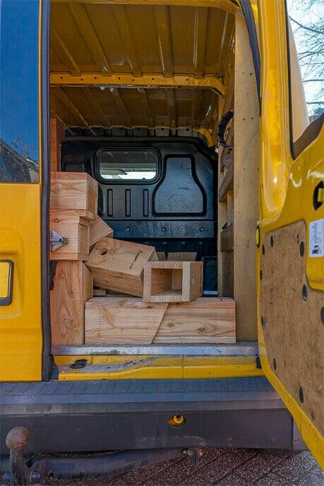 Laatste nestkastjes zijn geleverd - Foto: Paul Scholten