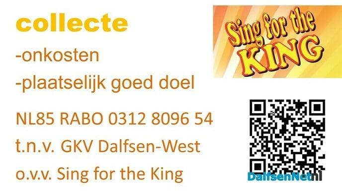 Sing for the KING - Foto: Ingezonden foto