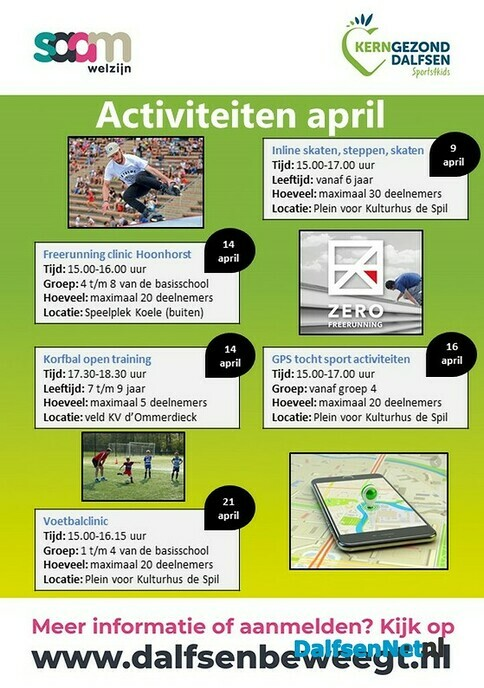 Sports4kids buitenactiviteiten in april - Foto: Ingezonden foto