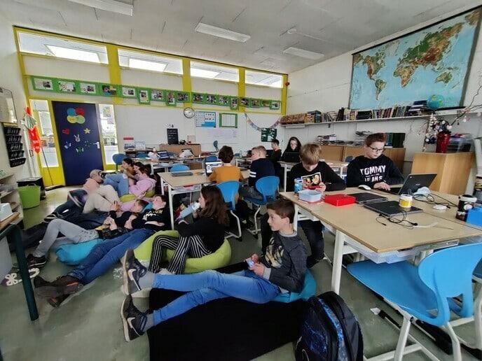 Politiekspel op de A. Baron van Dedemschool - Foto: Ingezonden foto