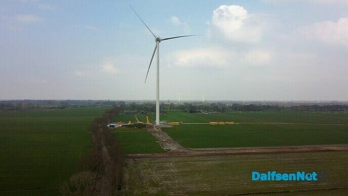 Drone beelden bouw windturbines Veur de Wind - Foto: Johan Bokma