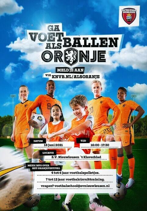 Voetbalschool Nieuwleusen organiseertOranjefestival - Foto: Ingezonden foto