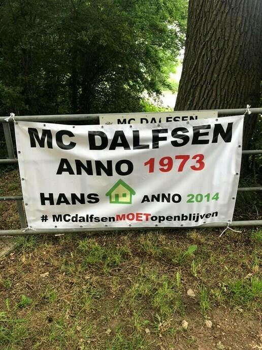 Een ludieke actie, maar niet van MC Dalfsen