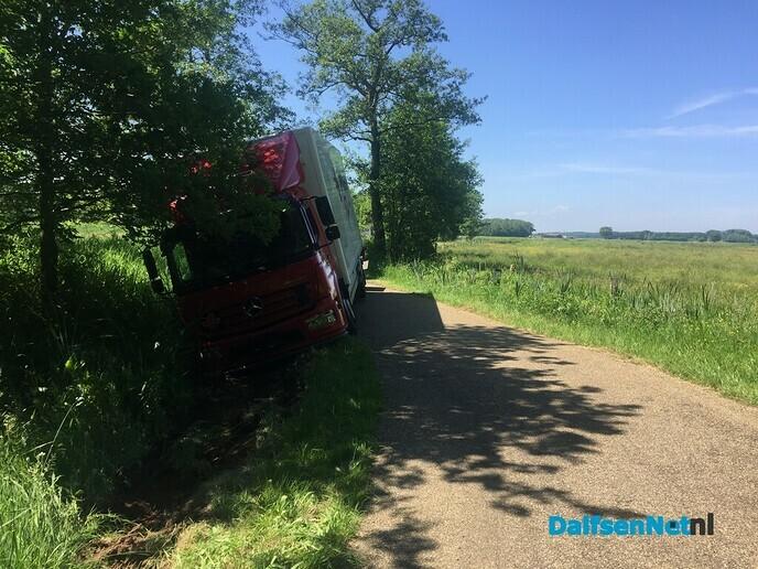 Mataramweg in Hoonhorst-Lenthe niet geschikt voor vrachtvervoer - Foto: Ingezonden foto