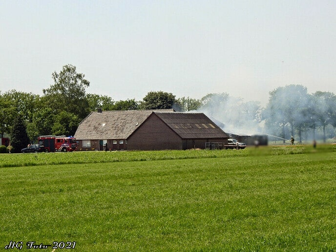 Grote brand schuur Haarweg.