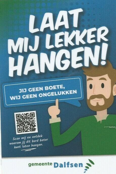 Wethouder start campagne 'Lekker laten hangen!'