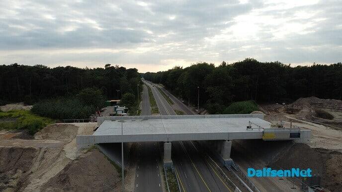 Afsluiting hoofdrijbaan N340 van 6 tot en met 30 augustus met drone foto's - Foto: Johan Bokma