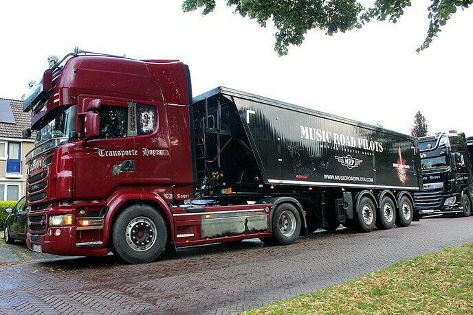 Music Road Pilots vrachtwagen in Dalfsen