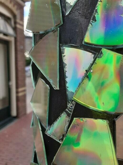 Glasscherven als kunst - Foto: William uit Dedemsvaart