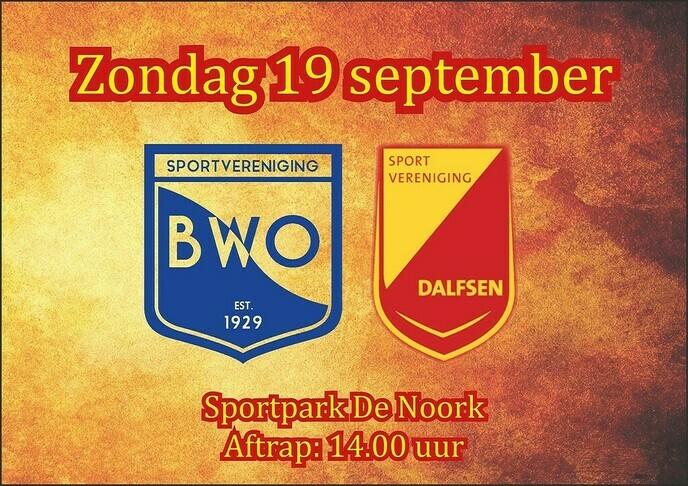 vooraankondiging van de wedstrijd van SV Dalfsen zondag - Foto: Ingezonden foto