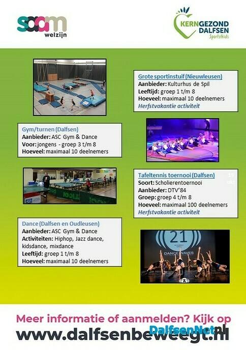 Sports4kids activiteitenkalender oktober - Foto: Ingezonden foto