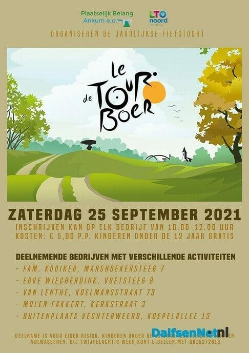 Toer de Boer fietstocht 25 september - Foto: Ingezonden foto