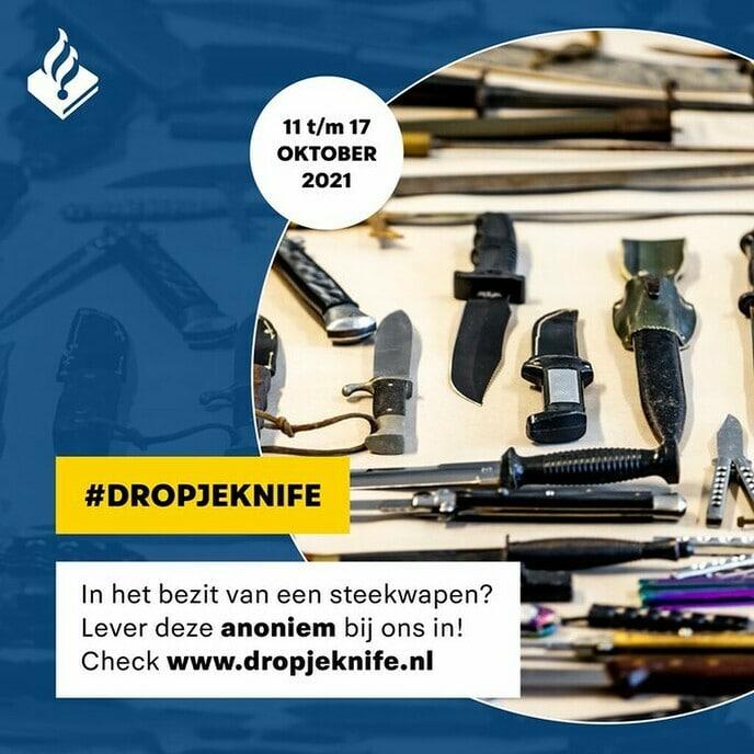 Steekwapens inleveren: doen! - Foto: Politie
