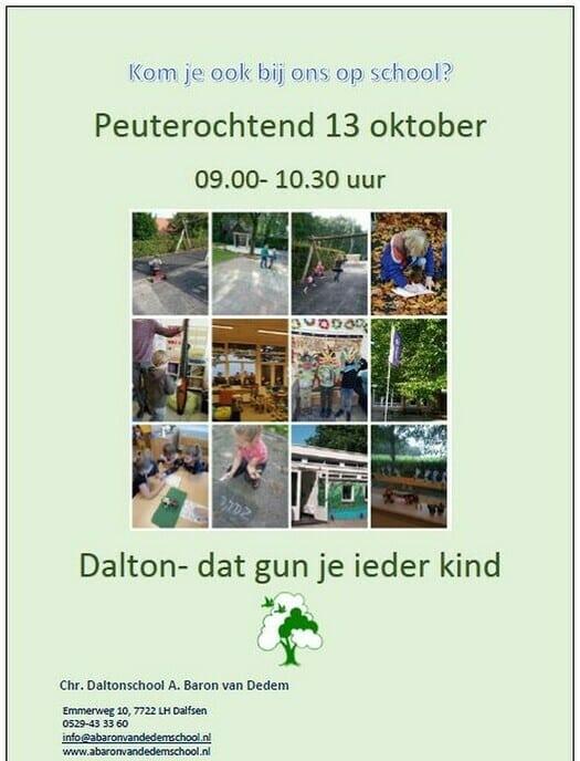 Peuterochtend A. Baron van Dedemschool - Foto: Ingezonden foto