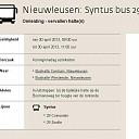 Verstoring Buslijn Nieuwleusen ivm. activiteiten