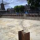 Verse beelden van het waterfront