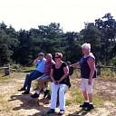 Afvaardiging van Gemeentebelangen Dalfsen op bezoek op de Vennenberg bij Fam. Nimeijer.