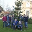 Hospice Dalfsen: plaatsen kerstboom en vrijwilligers hospice