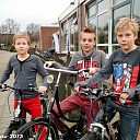 Op de fiets naar serious request in Leeuwarden.