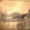 Digitale foto van een potlood tekening