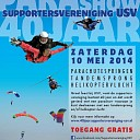 USV 40 jarig jubileum met parachutisten show