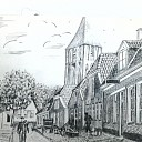 Prachtige tekening Prinsenstraat Dalfsen