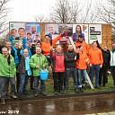 Politieke partijen Dalfsen plakken hun eerste verkiezingsposters.