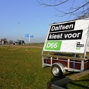 """D66 Dalfsen mag van provincie geen """"reclame"""" maken bij station"""
