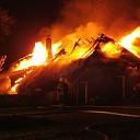 Woonboerderij afgebrand