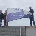 Kleedkamers ASC'62 op het hoogste punt