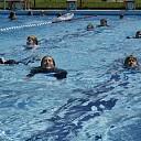Zwembad eerder open.
