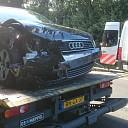 Grote stremming N35 na ongeval