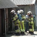 Gasfles in de brand aan de Welsummerweg