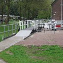 Afsluiting brug stuw voor scootmobielen