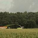 De eerste maishakselploegen weer in het veld